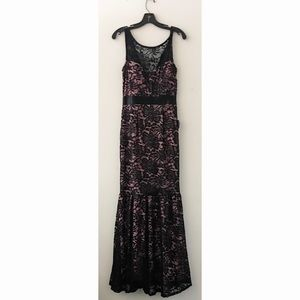 Forever Black Lace with Pink Lining Large